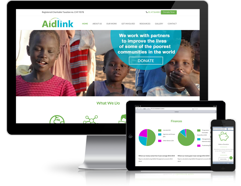 Aidlink's New Website