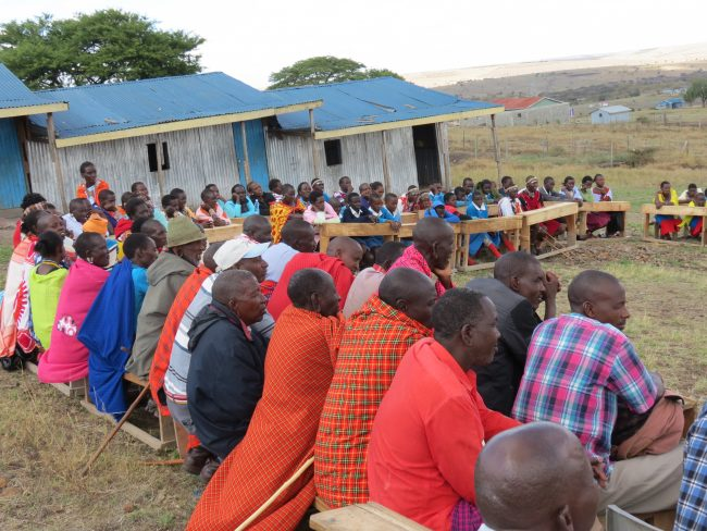 Public Meeting at Kikuria Primary School, Kajiado, Kenya, 2016